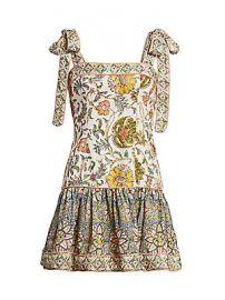 Zimmermann - Edie Tie-Shoulder Mini Flare Dress at Saks Fifth Avenue