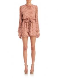 Zimmermann - Karmic Flare-Sleeved Romper at Saks Fifth Avenue
