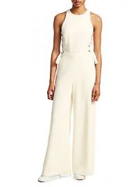 Zimmermann - Lace-Up Wide Leg Jumpsuit at Saks Off 5th