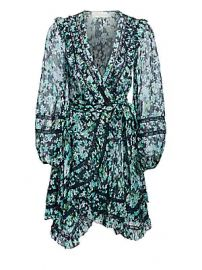 Zimmermann - Moncur Wrap Mini Dress at Saks Fifth Avenue
