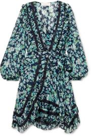 Zimmermann - Moncur lace-trimmed floral-print wrap dress at Net A Porter