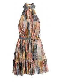 Zimmermann - Ninety-Six Patchwork Fit- amp -Flare Silk Dress at Saks Fifth Avenue