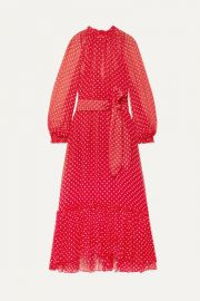 Zimmermann - Ninety-Six Swing polka-dot silk-georgette midi dress at Net A Porter