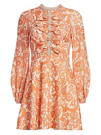 Zimmermann - Peggy Scalloped Mini Dress at Saks Fifth Avenue