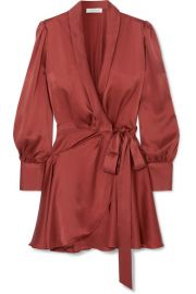 Zimmermann - Silk wrap mini dress at Net A Porter