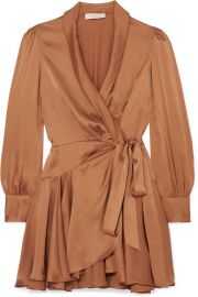 Zimmermann - Super Eight Silk wrap mini dress at Net A Porter