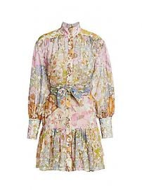 Zimmermann - Super Floral Print High-Neck Mini Dress at Saks Fifth Avenue