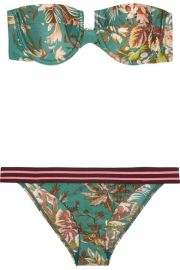 Zimmermann   Tropicale printed bandeau bikini at Net A Porter