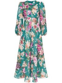 Zimmermann Allia Floral Print Midi Dress - Farfetch at Farfetch