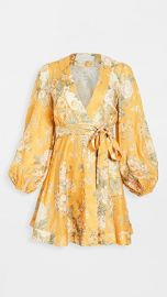 Zimmermann Amelie Wrap Short Dress at Shopbop