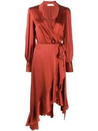 Zimmermann Asymmetric Wrap Dress  - Farfetch at Farfetch