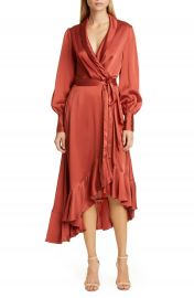 Zimmermann Espionage Long Sleeve Silk Wrap Dress   Nordstrom at Nordstrom