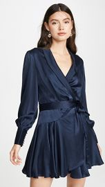 Zimmermann Espionage Silk Wrap Mini Dress at Shopbop
