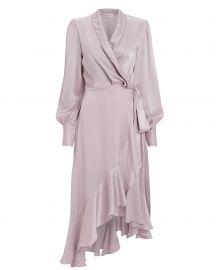 Zimmermann Lavender Silk Wrap Dress at Intermix