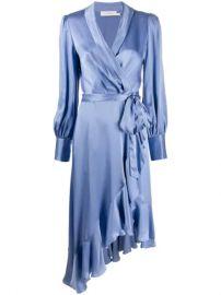 Zimmermann Satin Ruffle Wrap Dress - Farfetch at Farfetch