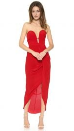 Zimmermann Silk Curve Long Dress in Red at Shopbop