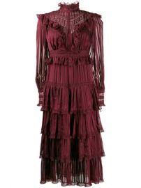 Zimmermann Striped Ruffle Midi Dress - Farfetch at Farfetch