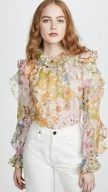Zimmermann Super Eight Ruffle Shirt at Shopbop