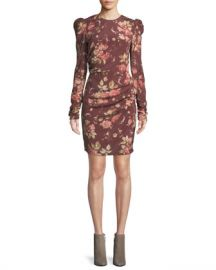 Zimmermann Unbridled Draped Floral-Print Mini Dress at Neiman Marcus