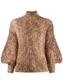 Zimmermann leopard print sweater leopard print sweater at Farfetch