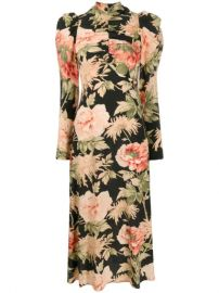 Zimmermann peony-print Ruched Dress - Farfetch at Farfetch