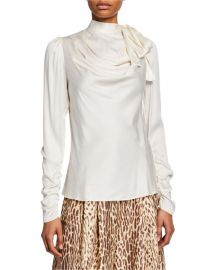 ZimmermannEspionage Silk Cowl Blouse at Neiman Marcus