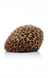 Zina Studded Beret by Yestadt Millinery at Moda Operandi