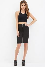 Zip-Front Pencil Skirt  Forever 21 - 2000162545 at Forever 21