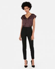 Zip Front Print Gramercy Tee at Express