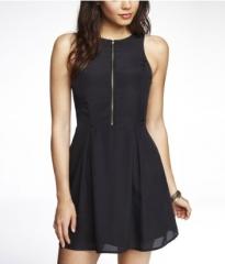 Zip front dress at Express