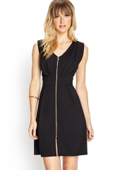 Zip front dress at Forever 21