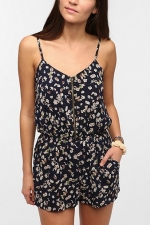 Zip front romper at Urban Outfitters