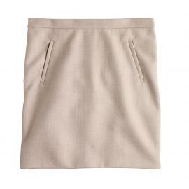 Zip pocket mini skirt at J. Crew