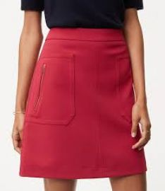 Zip pocket skirt at Loft