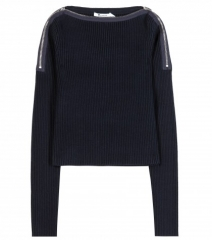 Zip shoulder sweater by T by Alexander Wang at My Theresa