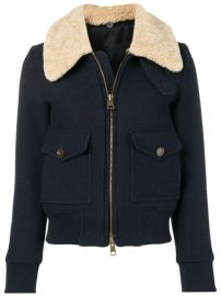 Zipped Jacket With Shearling Collar at Farfetch