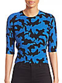 Zo  Jordan - Newton Wool   Cashmere Camo-Print Sweater at Saks Fifth Avenue