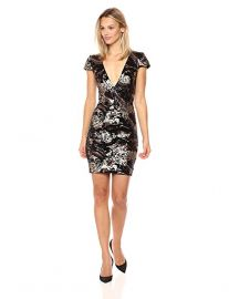 Zoe Plunging Sequin Mini Dress at Amazon