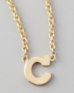Zoe Chicco initial necklace at Neiman Marcus