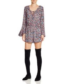 Zoe Floral Lace Up Romper at Bloomingdales