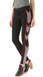 Zoe Harts black patterned jeans at Shopbop at Shopbop