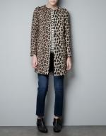 Arias leopard coat at Zara at Zara