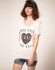 Zoe Karssen  Zoe Karssen Good Girls Love Bad Boys T-Shirt at Asos