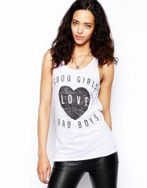 Zoe Karssen Good Girls Love Bad Boys Tank Top at Asos