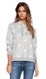 Zoe Karssen Stars All Over Hoodie in Grey Heather and Pirate Black  REVOLVE at Revolve