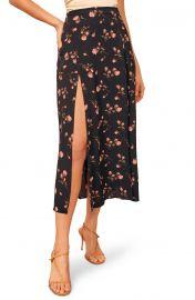 Zoe Side Slit Midi Skirt at Nordstrom