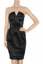 Zoe's black strapless dress at Outnet