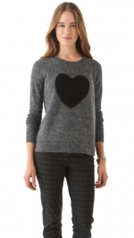Zoes heart sweater by Elizabeth and James at Shopbop