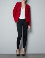 Zoes red jacket from Zara at Zara