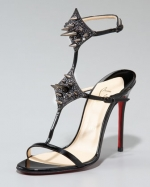 Zoes spiked tstrap heels on Hart of Dixie at Neiman Marcus